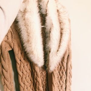 Guess cable knit sweater coat